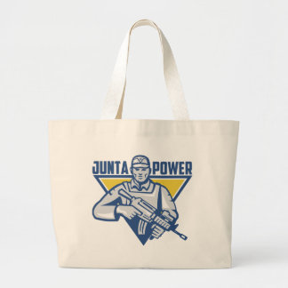 Ukrainian Army Junta Power Large Tote Bag