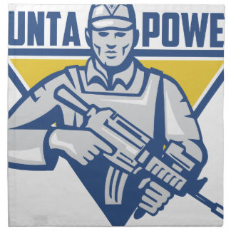 Ukrainian Army Junta Power Napkin