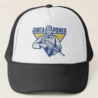 Ukrainian Army Junta Power Trucker Hat