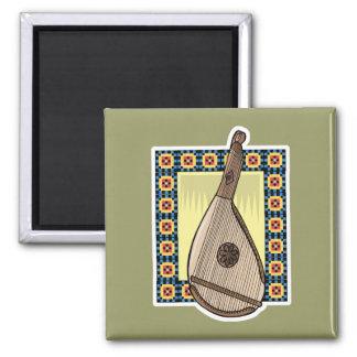 ukrainian bandura square magnet