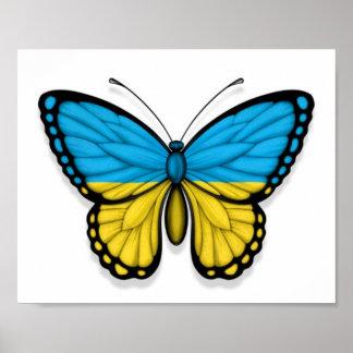 Ukrainian Butterfly Flag Posters