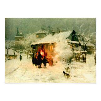 Ukrainian Christmas Carolers 13 Cm X 18 Cm Invitation Card