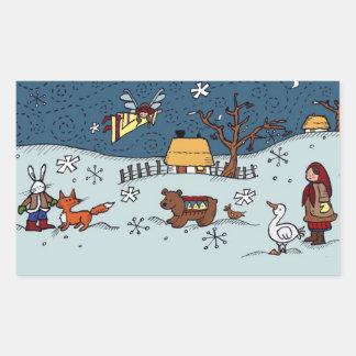 Ukrainian Christmas Eve Rectangular Sticker