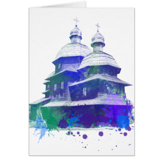 Ukrainian church color solash card