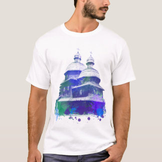 Ukrainian church watercolor effect T-Shirt