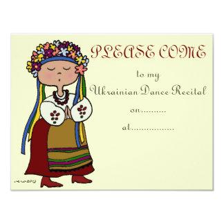 Ukrainian Dance Recital Card