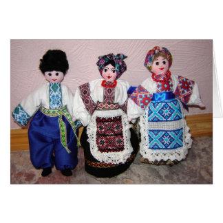 Ukrainian Dolls Card