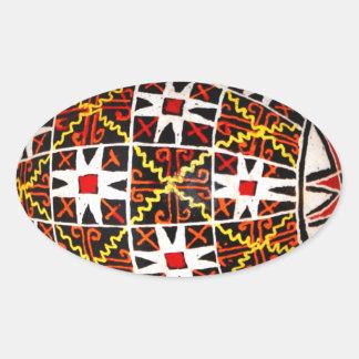 Ukrainian Easter Egg Oval Sticker