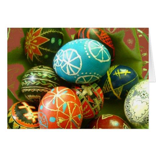 Ukrainian Easter Eggs Greeting Cards