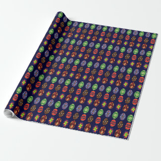 Ukrainian easter eggs wrapping paper