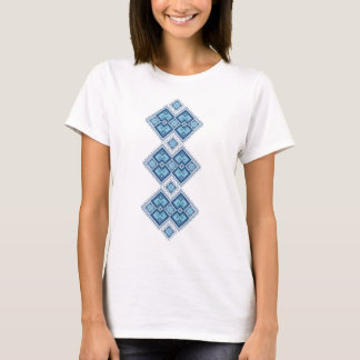 Ukrainian embroidery blue vyshyvanka T-Shirt