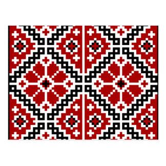 Ukrainian embroidery postcard
