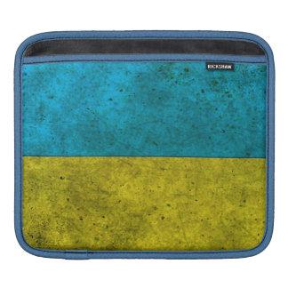 Ukrainian Flag Aged Steel Effect iPad Sleeves