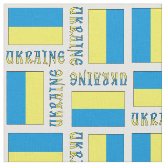 Ukrainian Flag and Ukraine Fabric