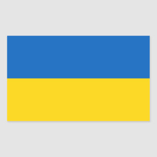 Ukrainian Flag Rectangular Sticker
