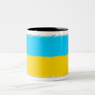 Ukrainian Flag Two-Tone Coffee Mug