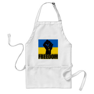 Ukrainian Flag with Fist for FREEDOM Standard Apron