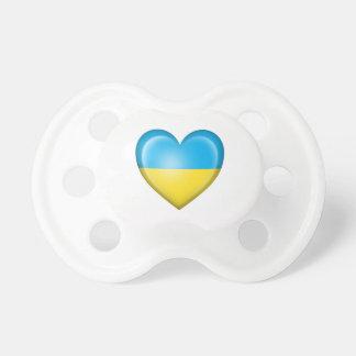 Ukrainian Heart Flag on White Dummy