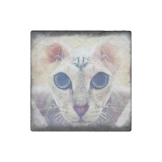 Ukrainian Levkoy Cat Marble Stone Magnet