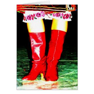 Ukrainian Red Boots Card