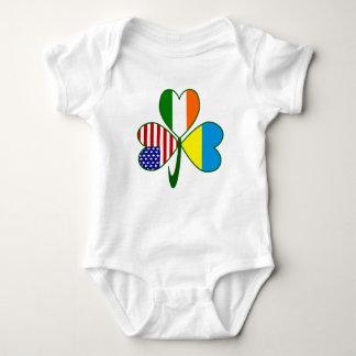 Ukrainian Shamrock Baby Bodysuit