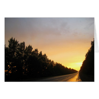 Ukrainian Sunset Card