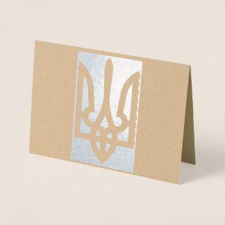 Ukrainian Tryzub Україна Foil Card
