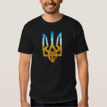 Ukrainian tryzub background of wheat and blue sky t-shirts