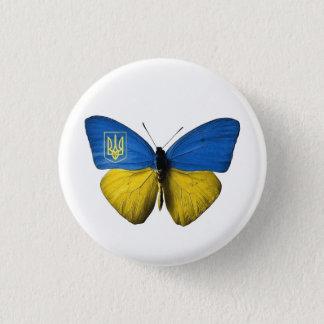 Ukrainian Tryzub Flag Coloured Butterfly Badge S