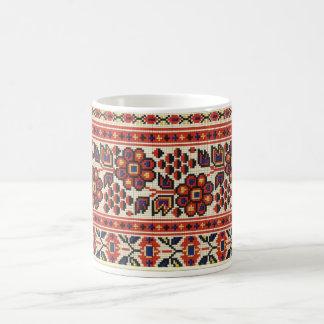 Ukrainian Vyshyvanka Embroidery Flowers Lviv Mug
