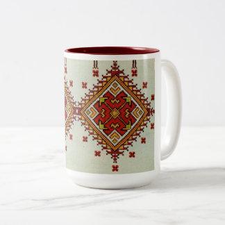 Ukrainian Vyshyvanka Embroidery Red Yellow Mug