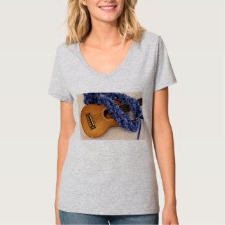 Ukulele and Blue Lei T-Shirt