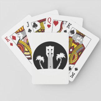 Ukulele and Palm Trees Poker Deck