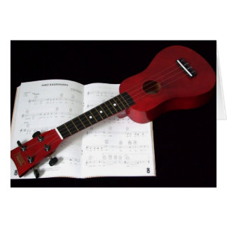 Ukulele and Songbook Card