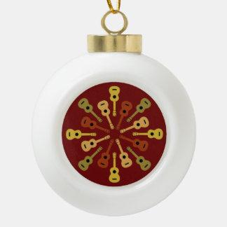 Ukulele Christmas ornaments
