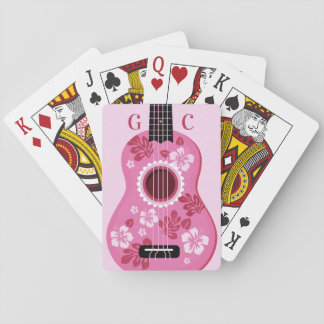 Ukulele custom monogram playing cards