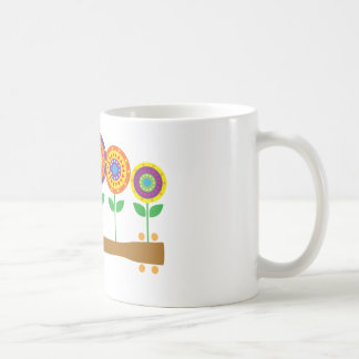 Ukulele Flowers Basic White Mug