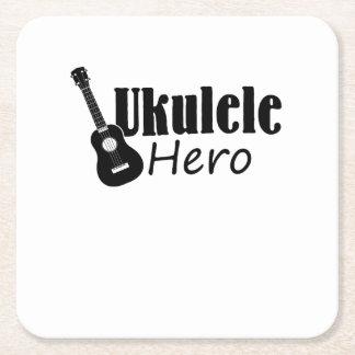 Ukulele Hero Ukulele Uke Music Lover Gifts Player Square Paper Coaster