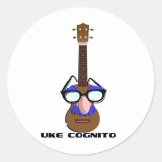 Ukulele Incognito Classic Round Sticker