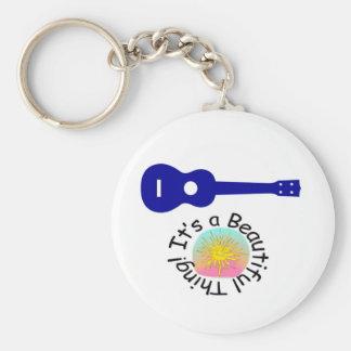 Ukulele It s a Beautiful Thing Key Chain