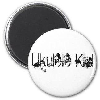 Ukulele Kid 6 Cm Round Magnet