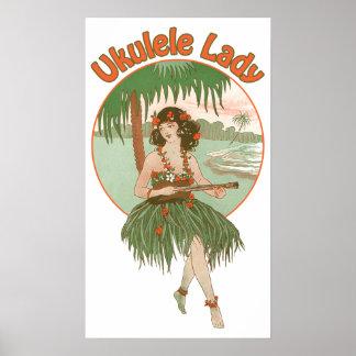 Ukulele Lady 1 Poster