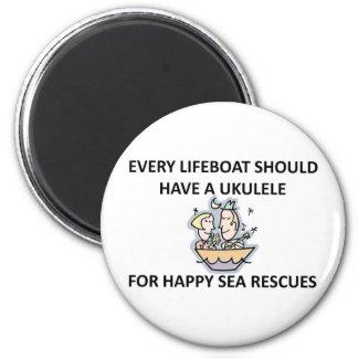 Ukulele Lifeboat Magnet