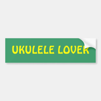 UKULELE LOVER bumper sticker