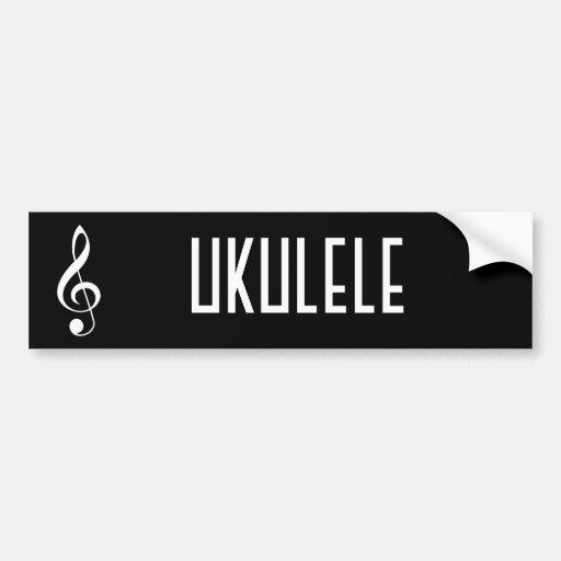 Ukulele Music Bumper Sticker Gift