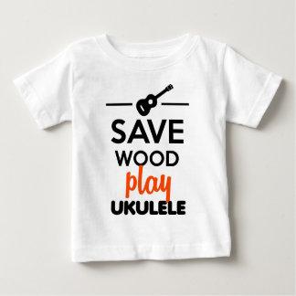 Ukulele Musical Instrument - Save Wood play ukulel Baby T-Shirt
