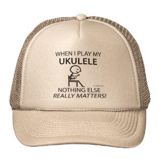 Ukulele Nothing Else Matters Trucker Hats