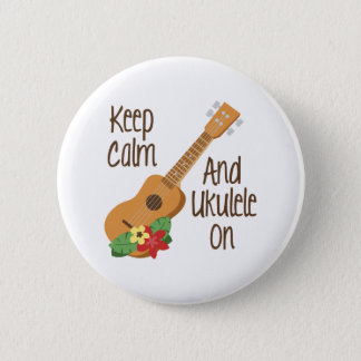 Ukulele On 6 Cm Round Badge
