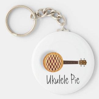 Ukulele Pie Keychain