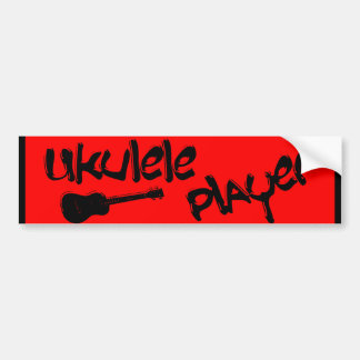 Ukulele player bumper sticker
